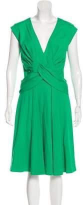 Issa V-Neck Midi Dress