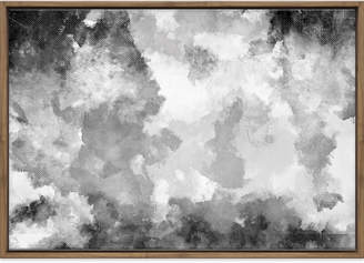 Art Illusions Black & White Canvas Clouds Printed Wall Art