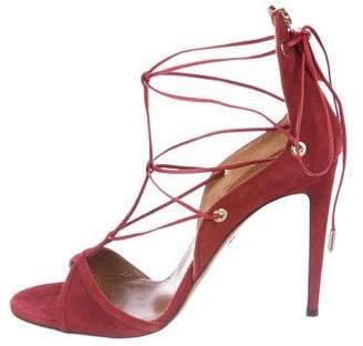 Aquazzura Cayenne 105 Suede Sandals