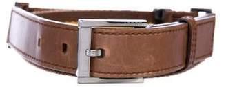 Gucci Leather-Trimmed Web Belt