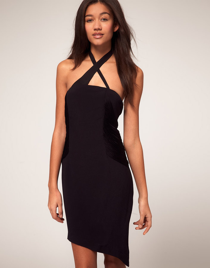 Vero Moda Very Deco Fringe Halter Dress