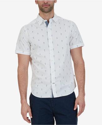 Nautica Men's Big & Tall Anchor-Print Shirt $65 thestylecure.com