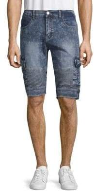 X-RAY Jeans Moto Denim Cargo Shorts