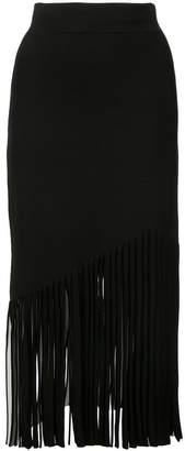Cushnie fringe detail skirt