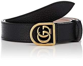 Gucci Men's GG Buckle Leather Belt - Black