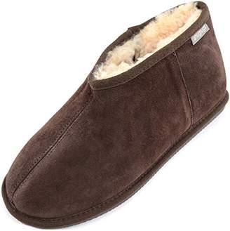 ceff7d60612f11 SNUGRUGS Benji, Men's Sheepskin Slipper Boot, Brown, ...