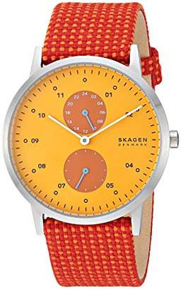 Skagen Men's Kristoffer Multifunction Quartz Stainless Steel and Fabric Casual Watch Color: Stainless