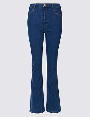 Marks and Spencer Mid Rise Slim Bootcut Flared Jeans
