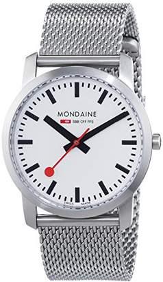 Mondaine (モンディーン) - [モンディーン]MONDAINE [モンディーン]Mondaine スリム36mm マットケース ホワイトダイアル、ステンレススチール製ブレスレット A400.30351.16SBM 【正規輸入品】 A400.30351.16SBM 【正規輸入品】