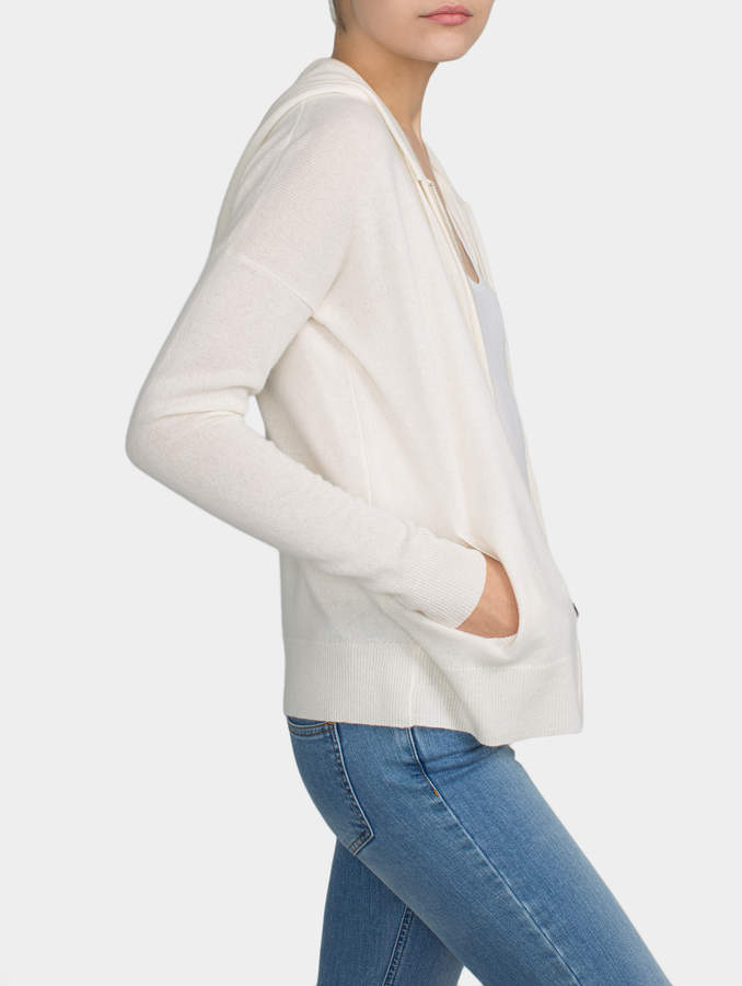 White + Warren Essential Cashmere Zip Hoodie