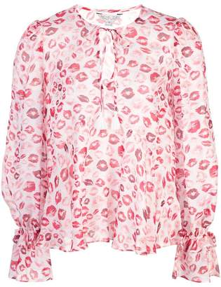 Rachel Zoe lip print tunic top