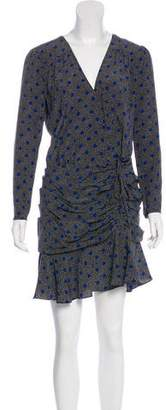 Veronica Beard Lou Lou LS Ruched Flounce Dress w/ Tags