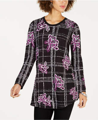 Style&Co. Style & Co Patterned Jacquard Sweater
