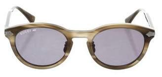 Gucci Titanium Keyhole Sunglasses w/ Tags