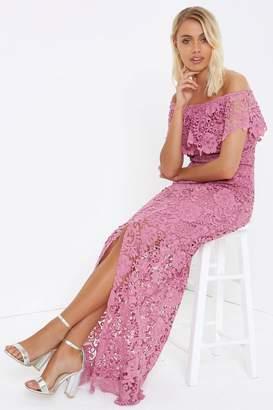 9cc0eb53d1 at Little Mistress · Paper Dolls Outlet Mauve Maxi Dress