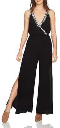1 STATE 1.STATE Embroidered Slit-Leg Jumpsuit