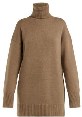 Joseph Roll Neck Wool Sweater - Womens - Camel