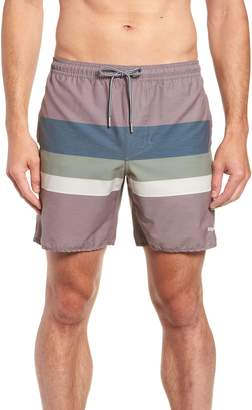 rhythm Retro Stripe Beach Swim Trunks