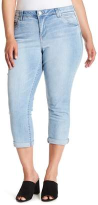 Democracy High Rise Ab Technology Crop Jeans (Plus Size)