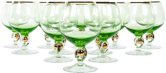 One Kings Lane Vintage Crystal Cognac/Snifter Glasses - Set of 12 - La Maison Supreme