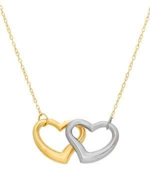 Lord & Taylor 14K Two-Tone Gold Flat Chain Necklace