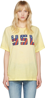 Saint Laurent Yellow USA T-Shirt $390 thestylecure.com