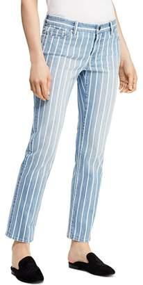 Ralph Lauren Estate Stripe Straight Ankle Jeans in Blue