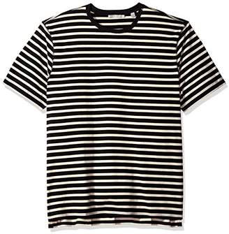 Vince Men's Smooth Jersey Striped Short Sleeve Crew