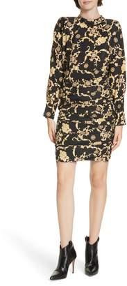 Veronica Beard Amile Stretch Silk Minidress