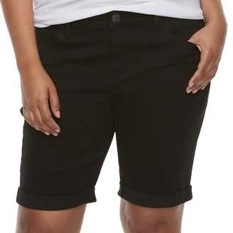 So Low So Juniors' Plus Size Rise Bermuda Shorts