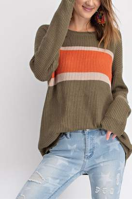 Easel Faded Color-Block Top