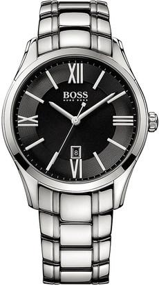 HUGO BOSS 1513025 Ambassador stainless steel watch $210 thestylecure.com