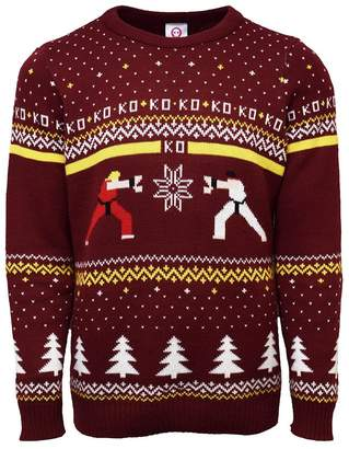Ryu Official Street Fighter Ken Vs. Christmas Jumper / Ugly Sweater (UK 3XL/US 2XL)