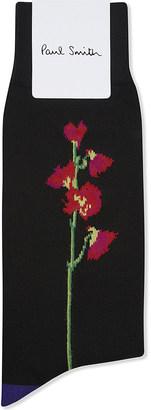 Paul Smith Mainline floral cotton-blend socks $18 thestylecure.com
