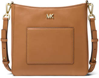 MICHAEL Michael Kors Gloria Pocket Leather Swing Pack Messenger Bag