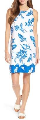 Tommy Bahama Hibiscus Hiatus Reverse Hem Shift Dress