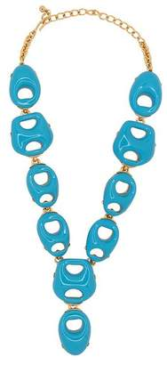 Kenneth Jay Lane Turquoise Open Link Drop Necklace