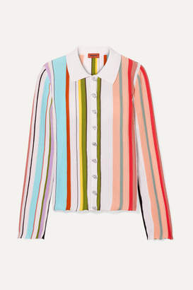Missoni Striped Ribbed Cotton Shirt - Green