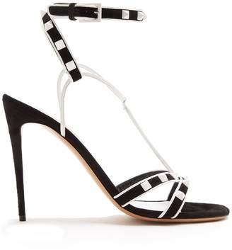 Valentino Free Rockstud-embellished suede sandals
