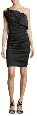 Tracy Reese Frilled Column Little Black Dress