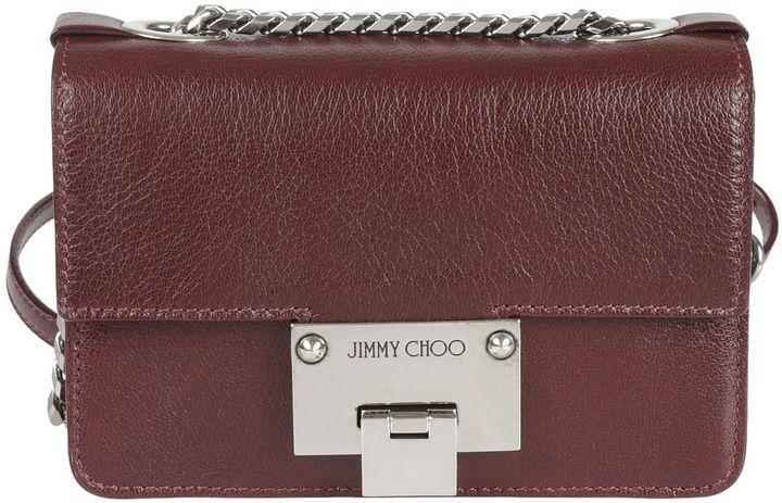 Jimmy ChooRebel Shoulder Bag From Jimmy Choo: Bordeaux Rebel Shoulder Bag With Foldover Top With Flip-lock Closure, Internal Slip Pocket,