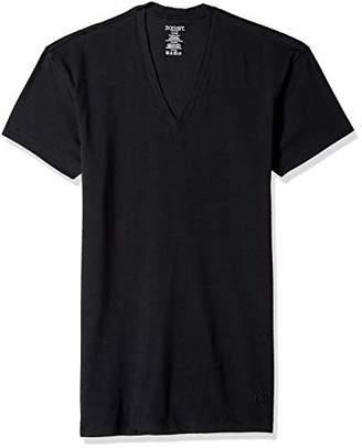 2xist Men's Pima Cotton Stretch Slim Fit V-Neck T-Shirt Shirt, /Natural