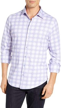 Stone Rose Regular Fit Plaid Knit Sport Shirt