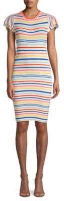 Alice + Olivia Kellin Striped Tee Dress