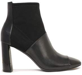 Casadei Neoprene And Leather Ankle Boots