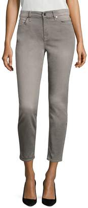 7 For All Mankind Women's Sateen Cropped Skinny Pants