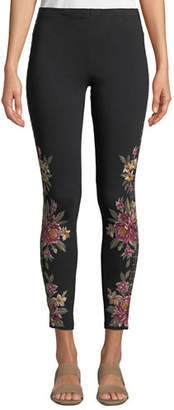 Johnny Was Joanna Leggings w/Floral Embroidery