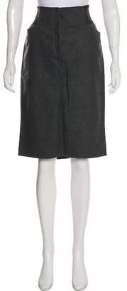 Dolce & Gabbana Wool-Blend Knee-Length Skirt w/ Tags