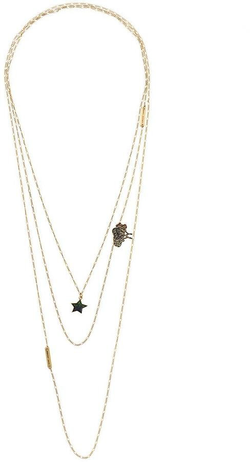 Marc JacobsMarc Jacobs star and tree charm necklace