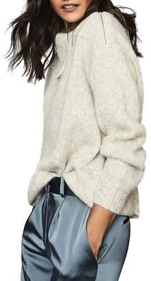 Reiss Cassie Zipper Detail Turtleneck Sweater